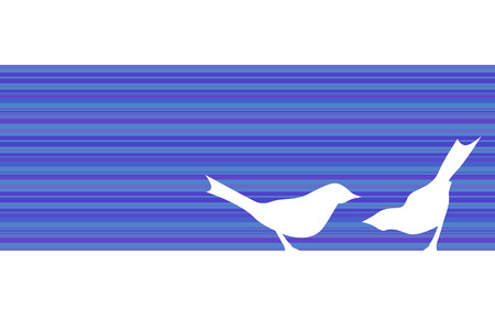 birds silhouettes - banner