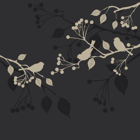 macro flowers: Floral Background, birds Stock Photo