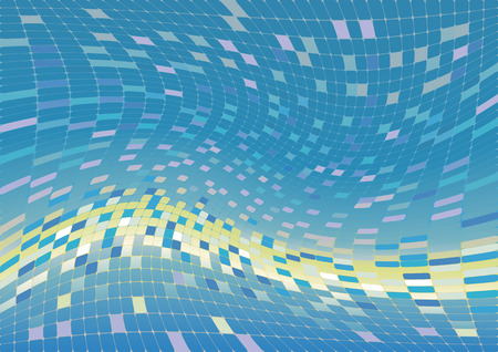 Vector abstract background, blue and green Illustration