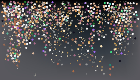 Confetti, New Year's celebration - vector background banner