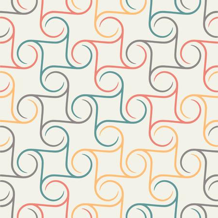 Retro repetitive wallpaper - Vintage pattern - Spherical - Vector illustration