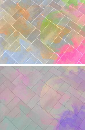 Background of stone. Set of two elements. Street pavement with blots.