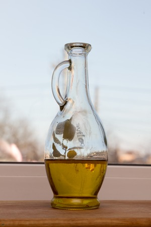 Olive oil in a beautiful bottle