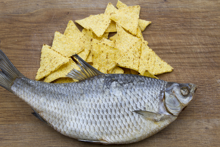 The best snack for beer. Fish and chips