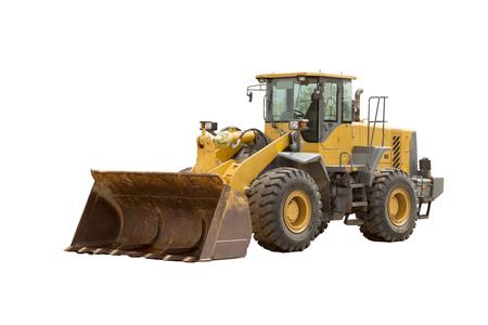 Gele bulldozer Stockfoto