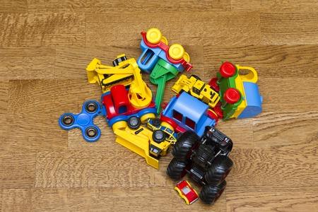Childrens toys lying on the floor