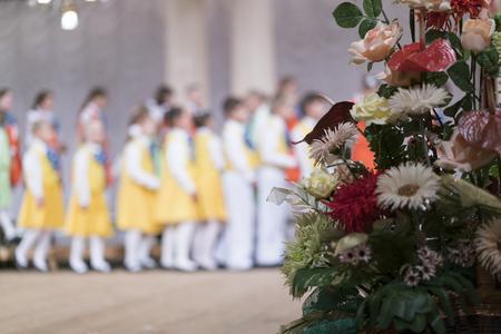 Childrens Choir. blurred