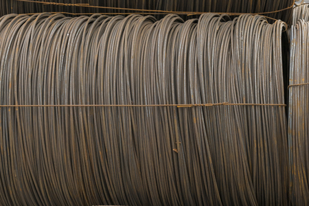 large bay of iron wire Stock Photo