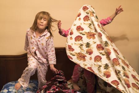 Children depict ghosts Stock Photo