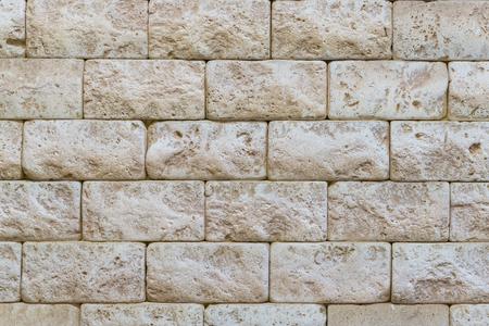 Ancient brickwork. beige old brick. background. Archivio Fotografico