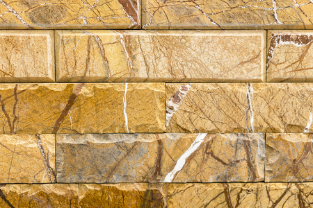 Dear marble brick with a brown pattern. background.