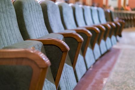 Armchair Theater. Classical theater seats deep. Фото со стока