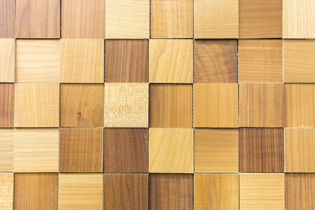 wooden background. Background of wooden squares. beige wood background.