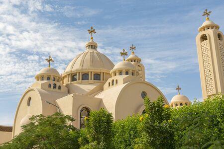 Coptic Orthodox Church in Sharm El Sheikh, Egypt. All Saints Church. Concept of the righteous faith. Stock fotó - 134657006