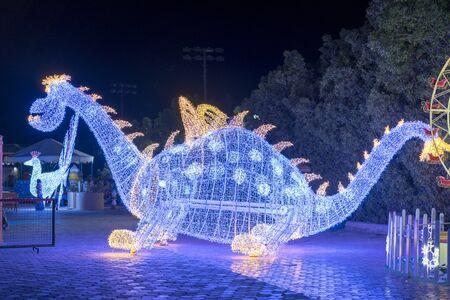 garland dinosaur. New year concept.