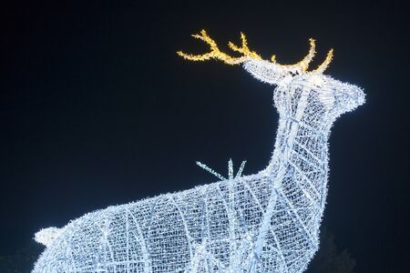 Christmas deer of garlands. Christmas and New Year concept.