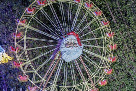 fabulous christmas carousel. selected focus.