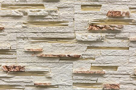 Beige decorative stone for decoration. Beige Stone Background.
