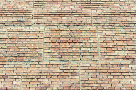 Old orange brick wall. background 免版税图像