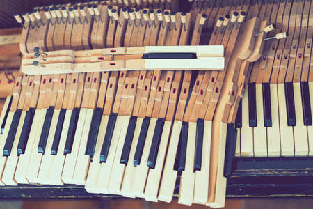 Old disassembled piano