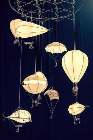 Creative chandelier for childrens room. Lamp in the form of a balloon for a childrens room. toned
