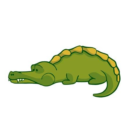 Sticker ready African animals set.  Crocodile.