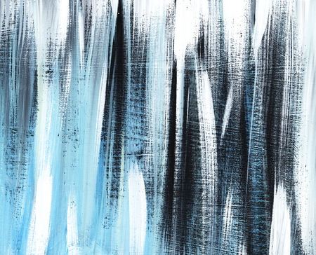 Grey, black, blue striped grange background hand painted with the soft brush on a toned paper.