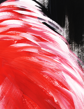 Abstract pink, red, white and black background. Hand painted on a paper illustration.
