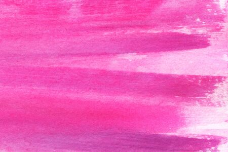 Abstract watercolor background. Girly pink craiola background. Deep shades of magenta and fuchsia. Straight lines rough strokes. Cosmetics saturated bright color. Hand-drawn on texture paper