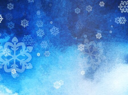 winter abstract background with snowflakes. Christmas mood. Gradient from light to dark. Christmas background. Big and small snowflakes winter fairy tale