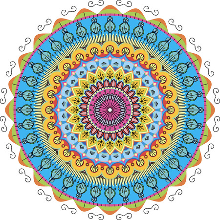 very beautiful color patterns arranged in a circle