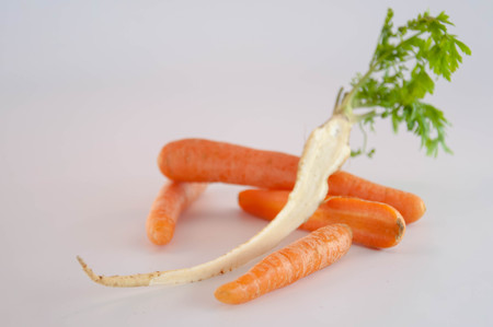 Root vegetables. Carrots and parsley