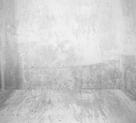 interior room with grunge white wall and floor