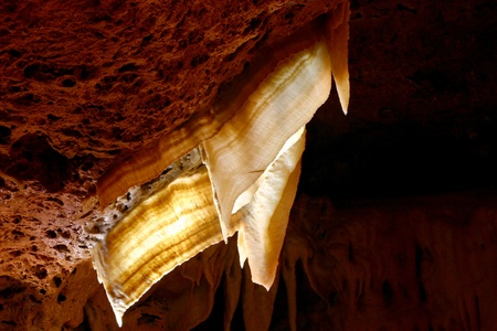 calcite: Cave Bacon Calcite Formation