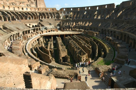 Inside the Colosseum in Rome Editorial