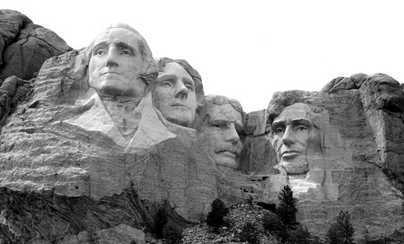 THe world famous carving of the Presidents