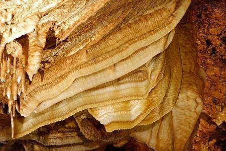 동굴 베이컨의 많은 층 스톡 콘텐츠