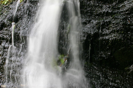 cataract waterfall: A small cataract waterfall at glacier in Alaska