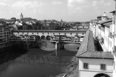 The Gold Bridge known locally as Ponte Vecchio in Florence, Italy