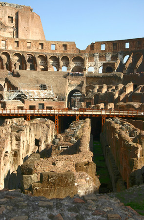 Interior view of the famous Colosseum in Rome, Italy