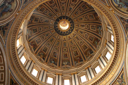 basillica: Saint Peters Vatican Dome Over Roman Catholic Cathedral