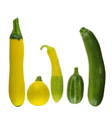 ehec: Cucumbers isolated on white background Stock Photo