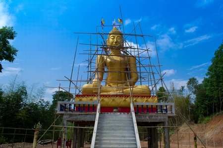 Buddha under construction  photo