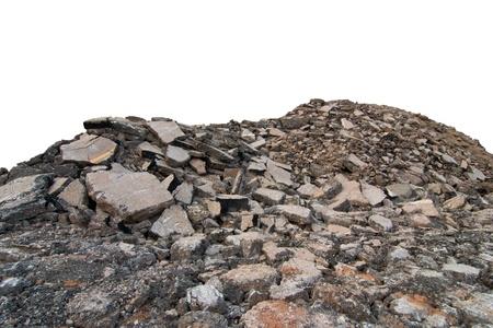 Asphalt demolition debris from the road  photo
