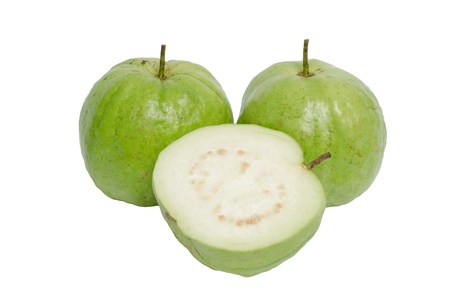 myrtaceae: Guava isolated on white background
