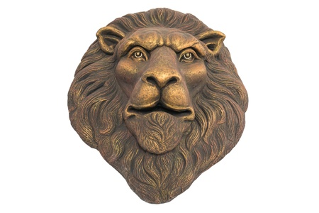 statue of  lion head isolated on white background   3626;  3636;  3591;  3650;  3605; photo