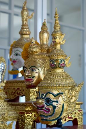 Actor s mask of Thai dance  photo