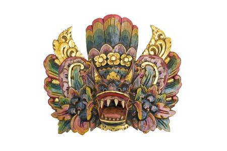 Indonesian mask isolated on white background 版權商用圖片