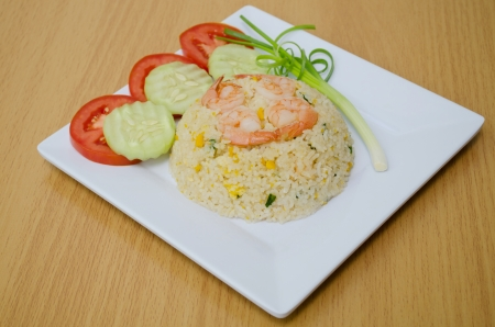 fried rice with shrimp  photo