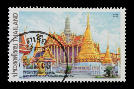 THAILAND - CIRCA 2002  A postage printed in Thailand show image of Wat Phra Si Rattanasatsadaram  from the series  Temples , circa 2002 photo